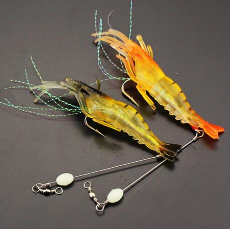 10cm Simulation Soft Shrimp Shrimp with Hook Fishing Lure Fishing Tackle