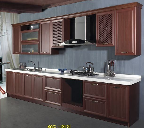 China mdf with thermofoil foiling kitchen cabinets kc067 for Thermofoil cabinets