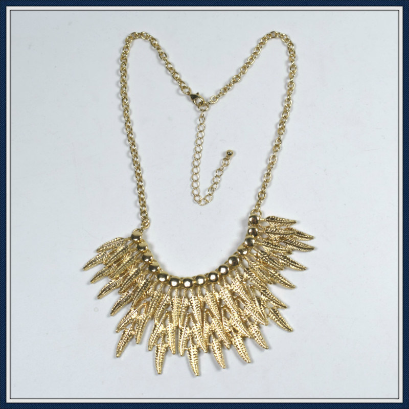 New Item Design Leaves Point Elegant Fashion Necklace Jewellery