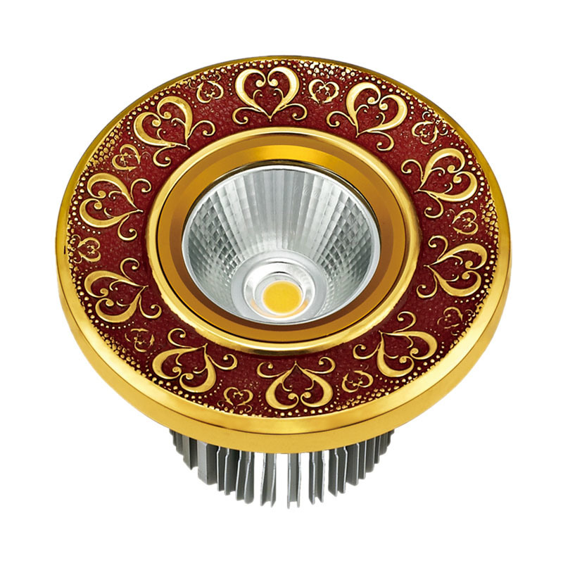 Forged Brass Face Plate Brass LED Downlight