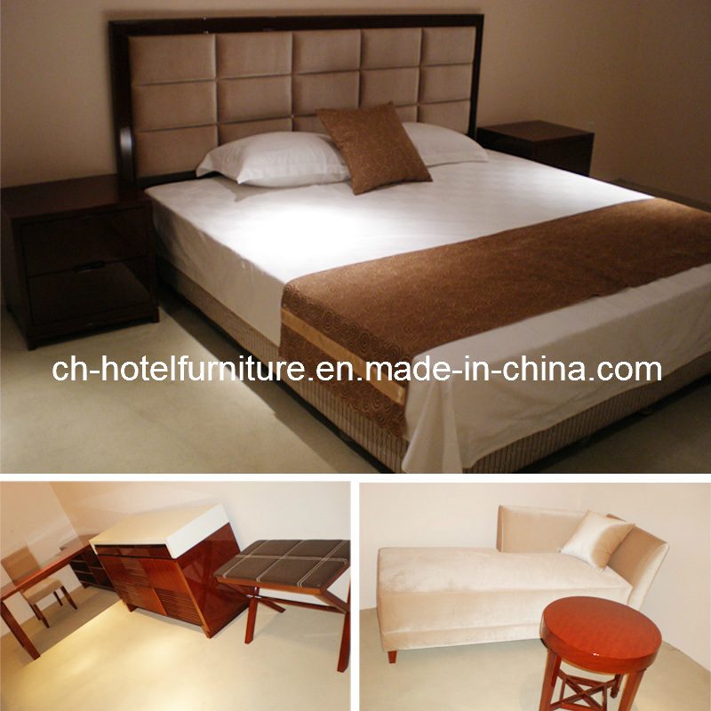 2014 Kingsize Luxury Chinese Wooden Restaurant Hotel Bedroom Furniture (GLB-50008)
