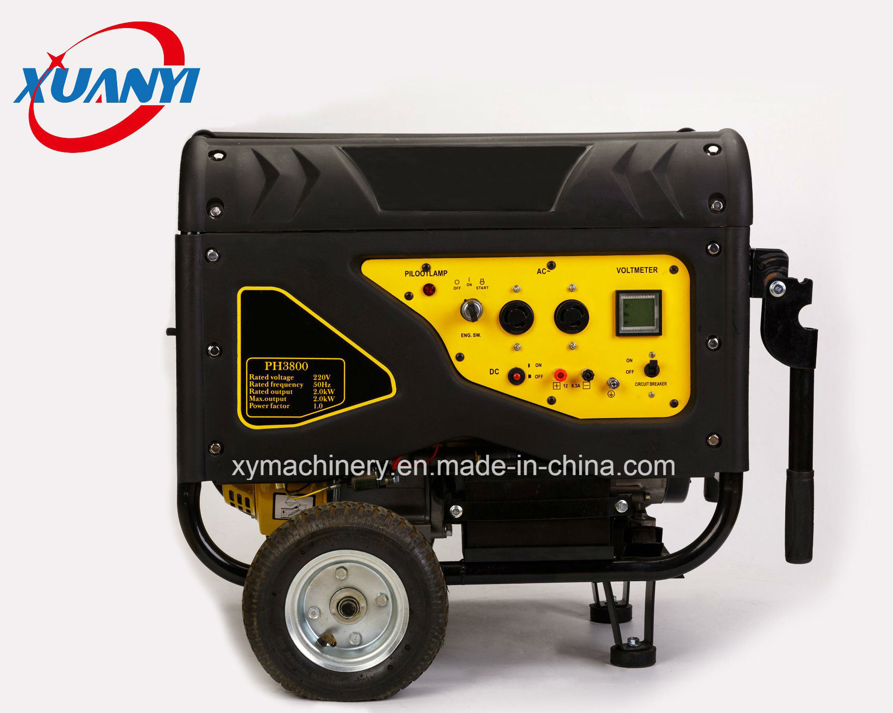 Hot Sale 100% Copper Wire 3kw Portable Power Gasoline Generator Alternator