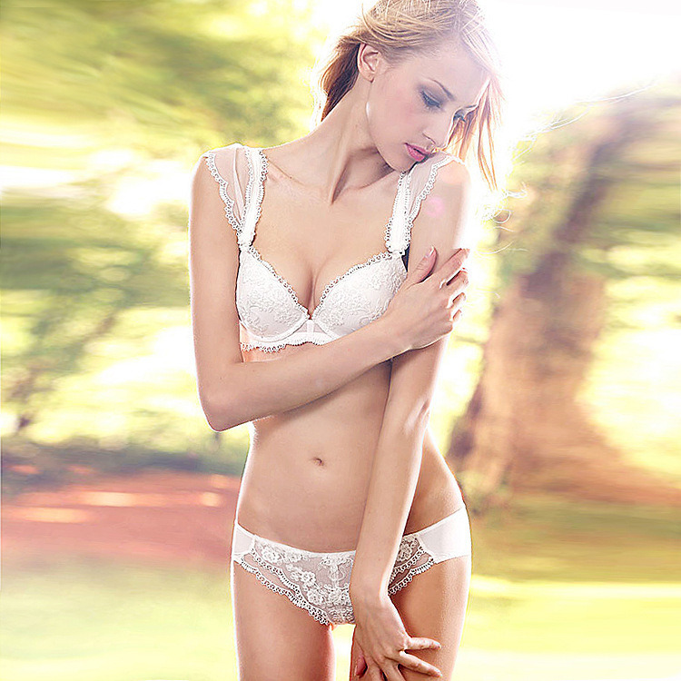Fashion Lace Lady Bra Set for Wedding