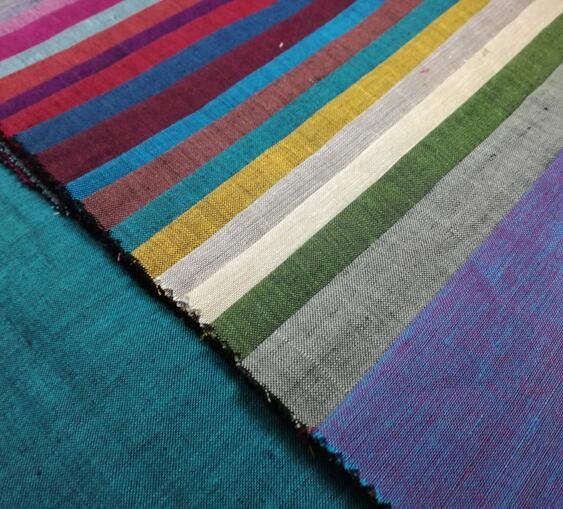 Ramie Cotton Yarn Dyed Fabric
