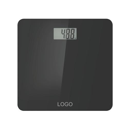 Glass Digital Electronic Weighing Bathroom Scale with Full Plastic Base