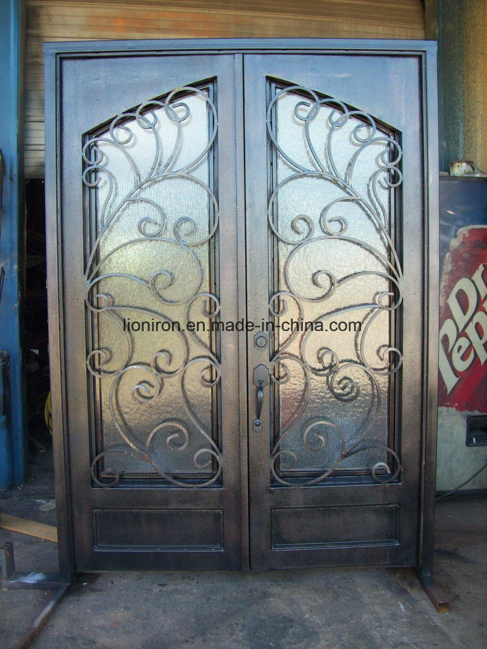 Steel Double Entrance Doors Luxury