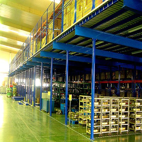 Steel Structure Garret Rivet Rack System with Mezzanine Floor