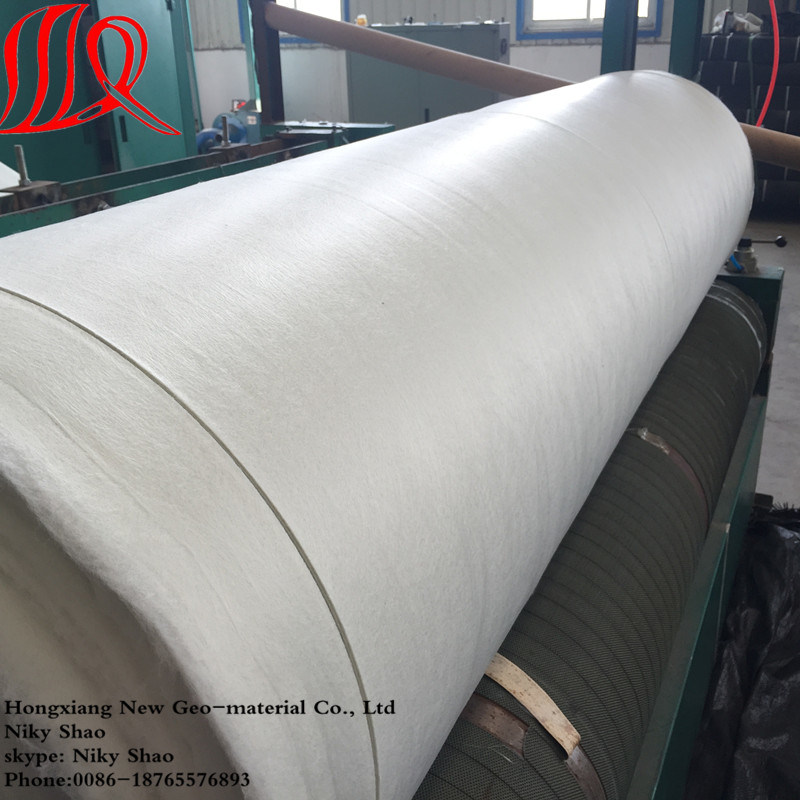 Nonwoven Pet/PP Short Fiber Needle Punched Geotextile for Drainage