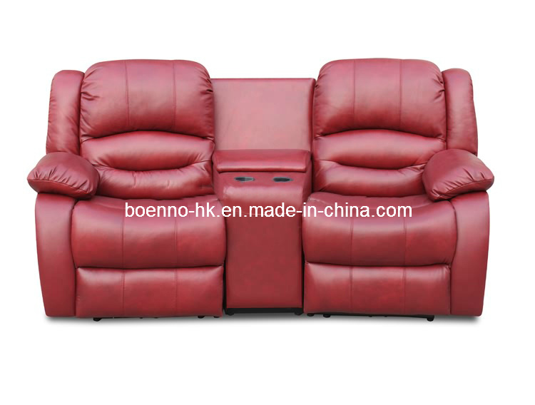Genuine Leather Office Recliner Sofa (SF-R320B)