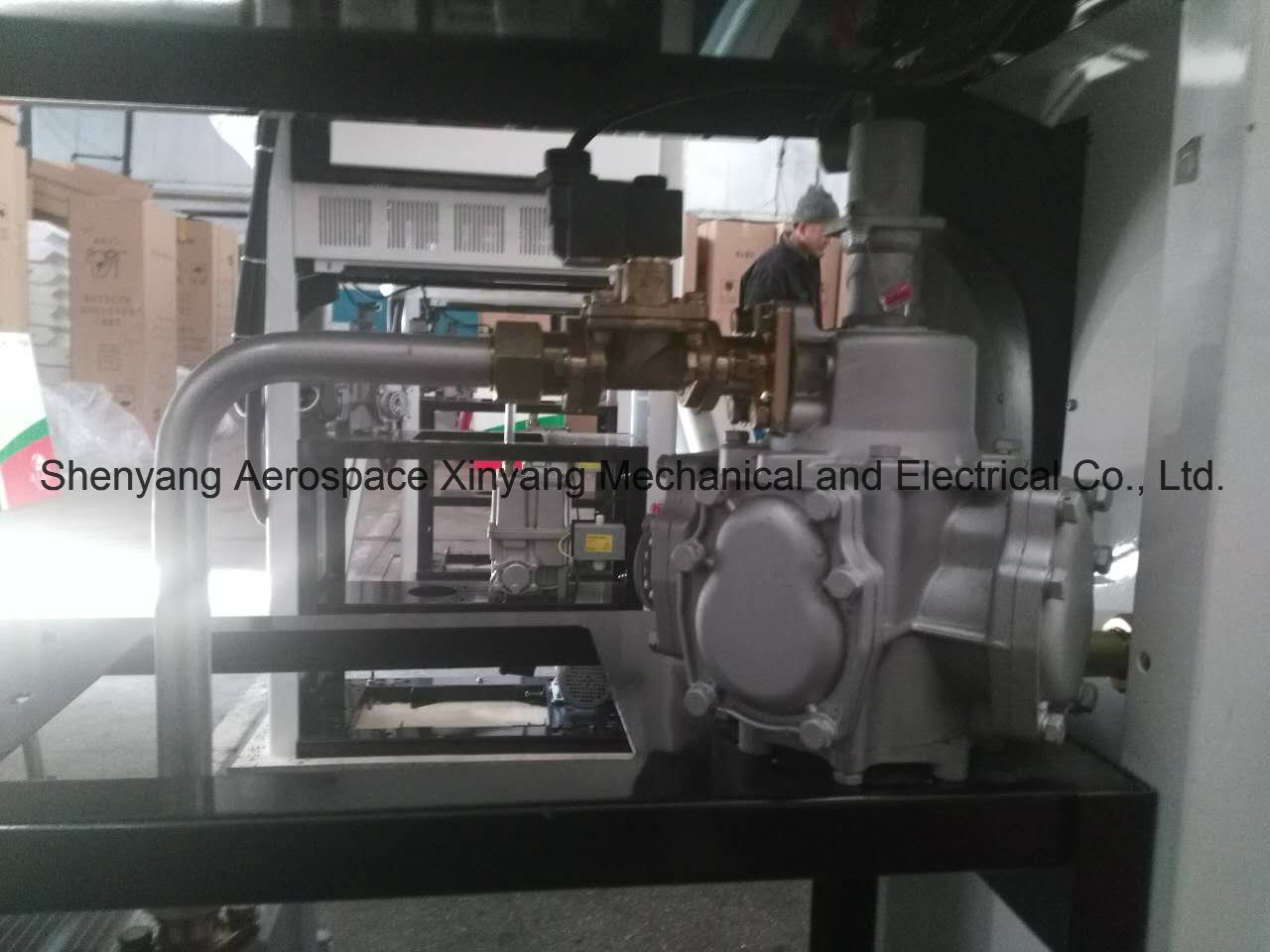 Oil Filling Station Single Pump Two Displays