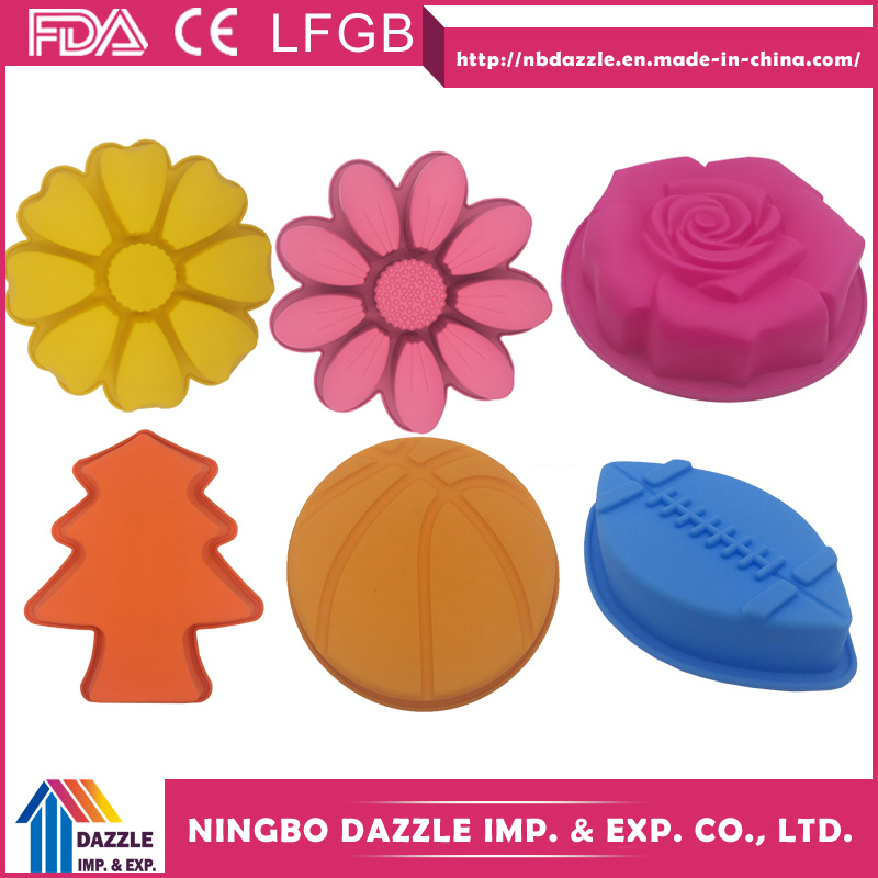 Flower Shape Silicone Cake Baking Molds Cake Moulds