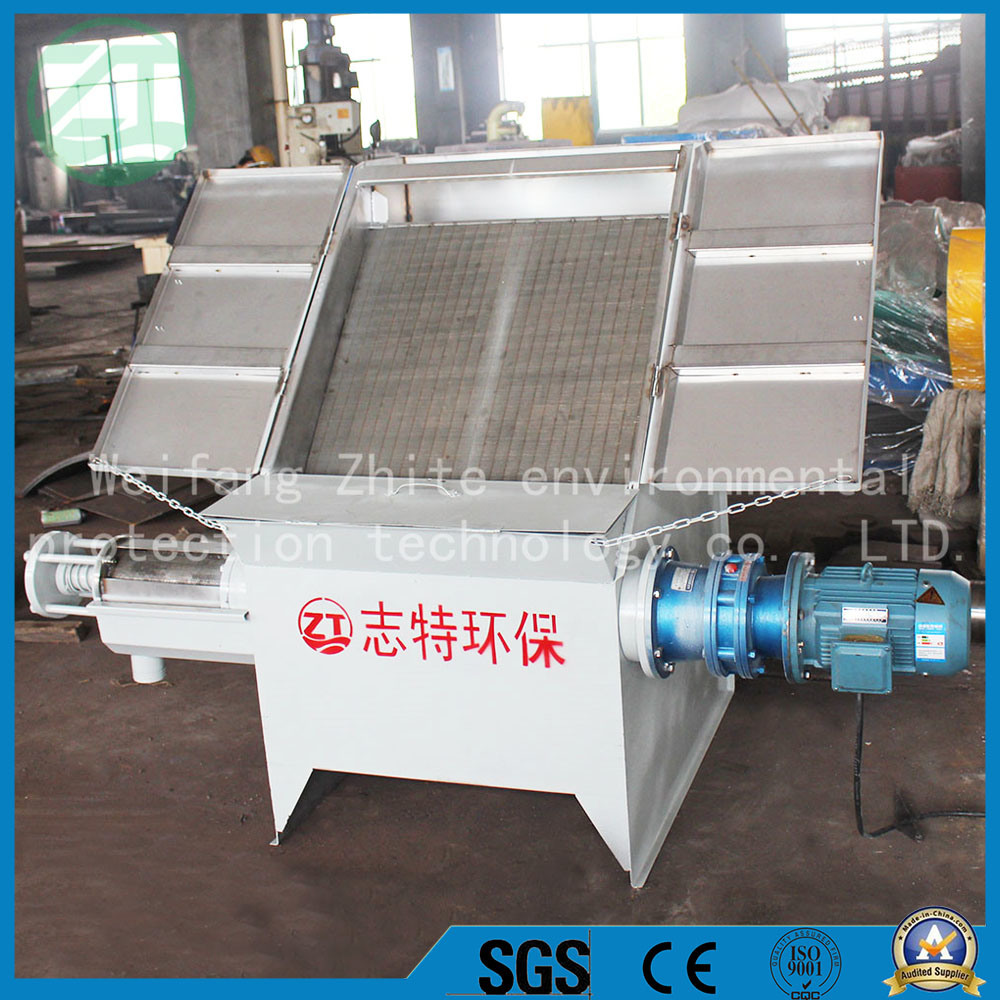 Efficient Inclined Screen Type Solid Liquid Separator of Poultry Manure/Cow Dung/Animal Waste, Duck Feces Processor