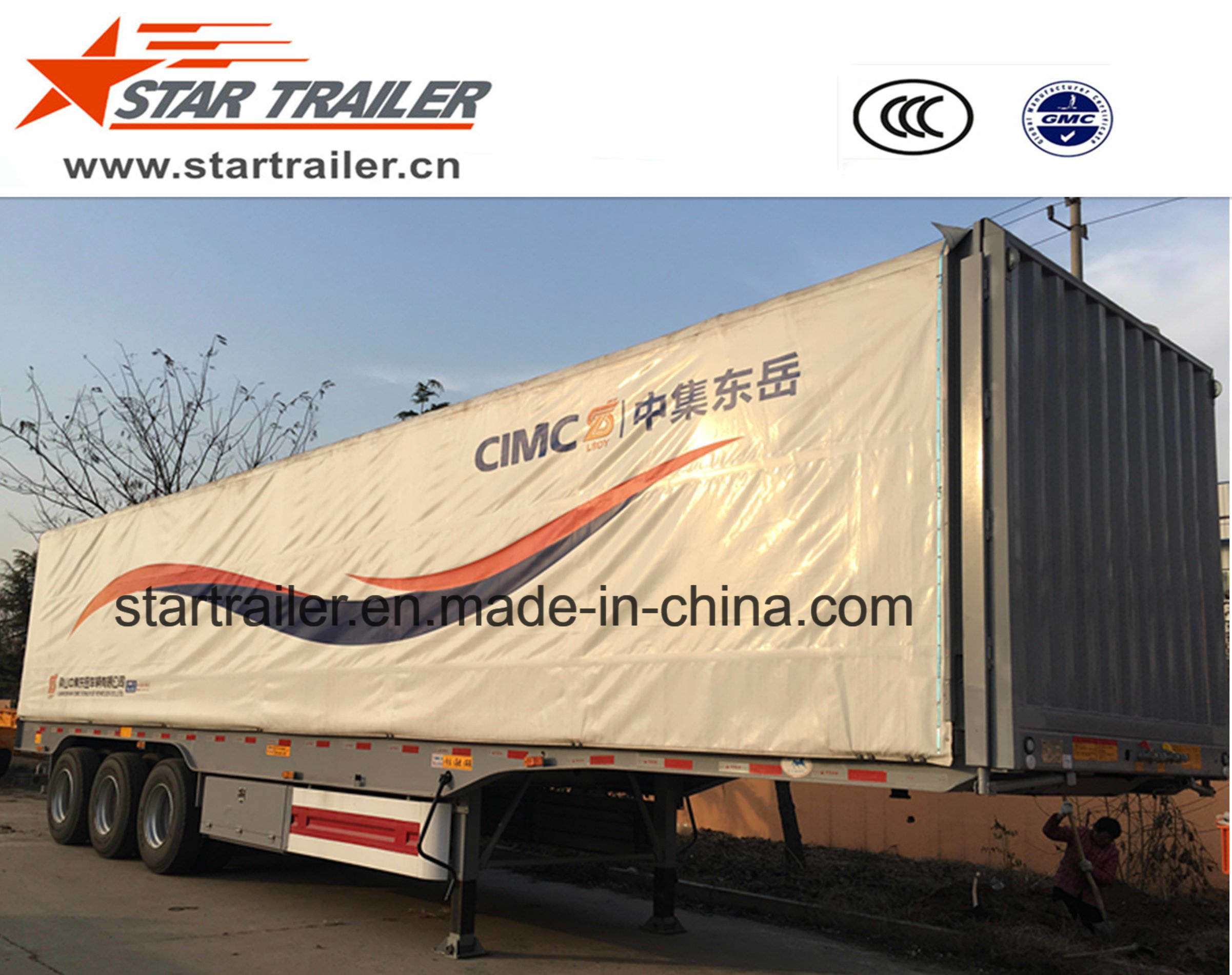 3 Axles Curtain Side Semitrailer