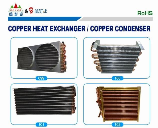 Copper Tube and Aluminum Fin Evaporator