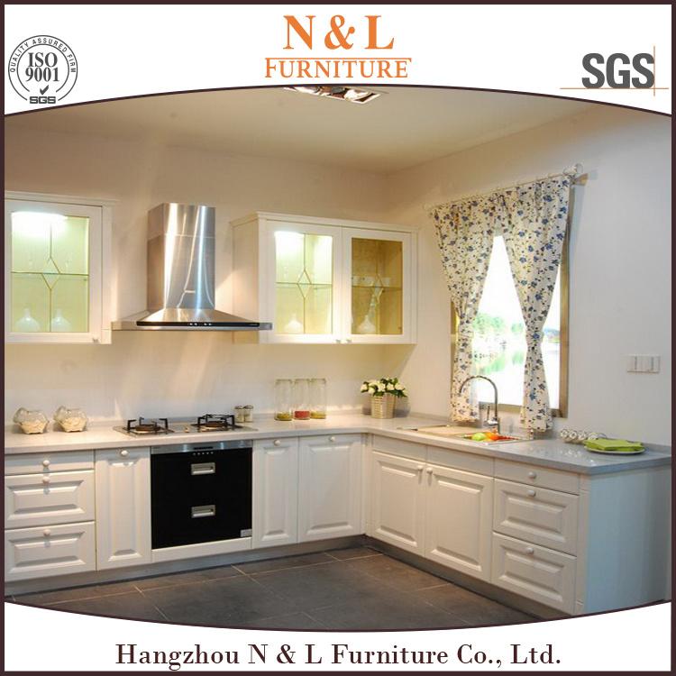 N&L Classic MDF White PVC Kitchen Cabinet