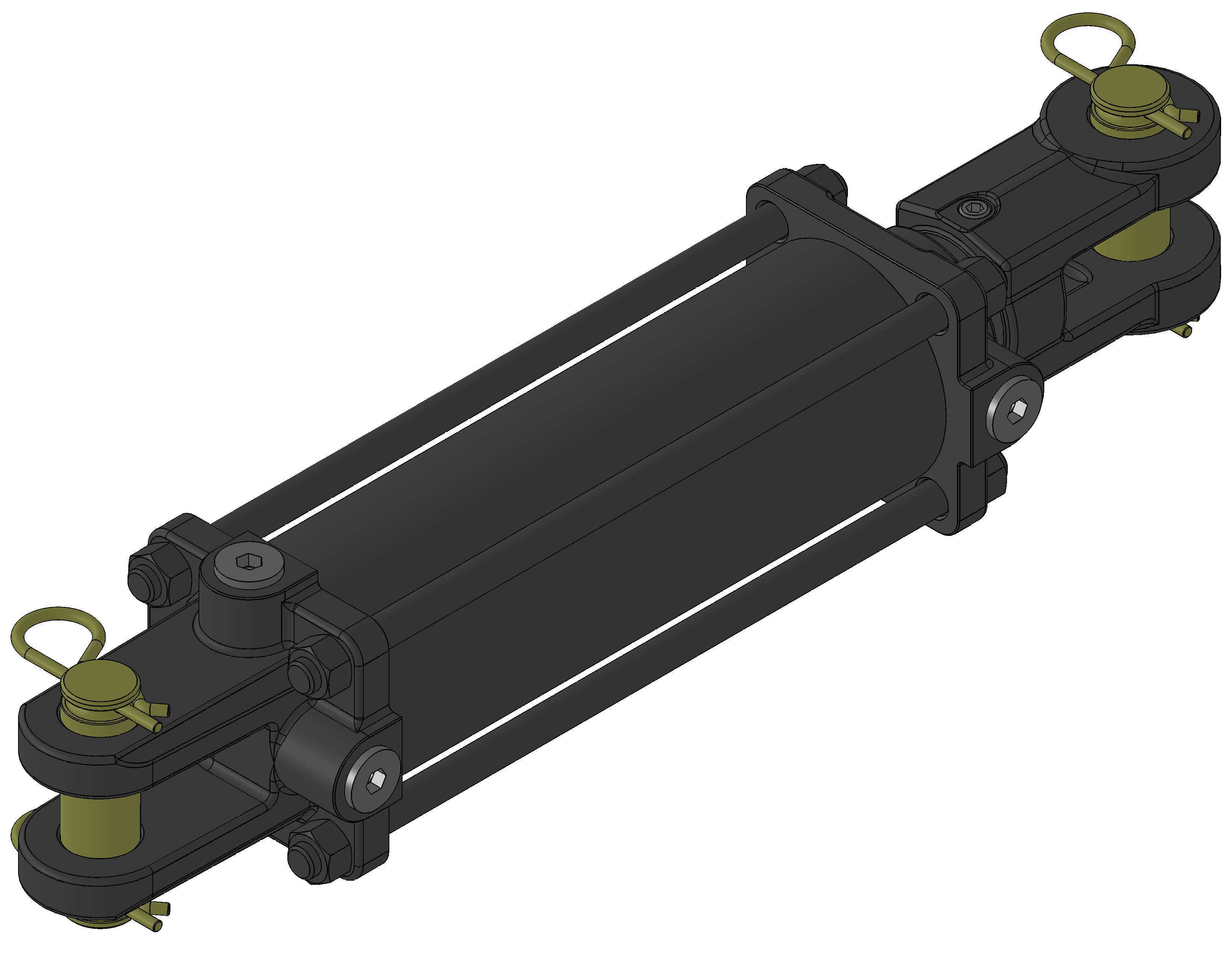 3000psi Tie-Rod Hydraulic Cylinder USA Standard
