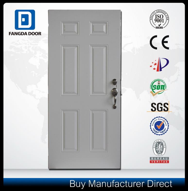 American Style Wood Edge Steel Entry Metal Security Door