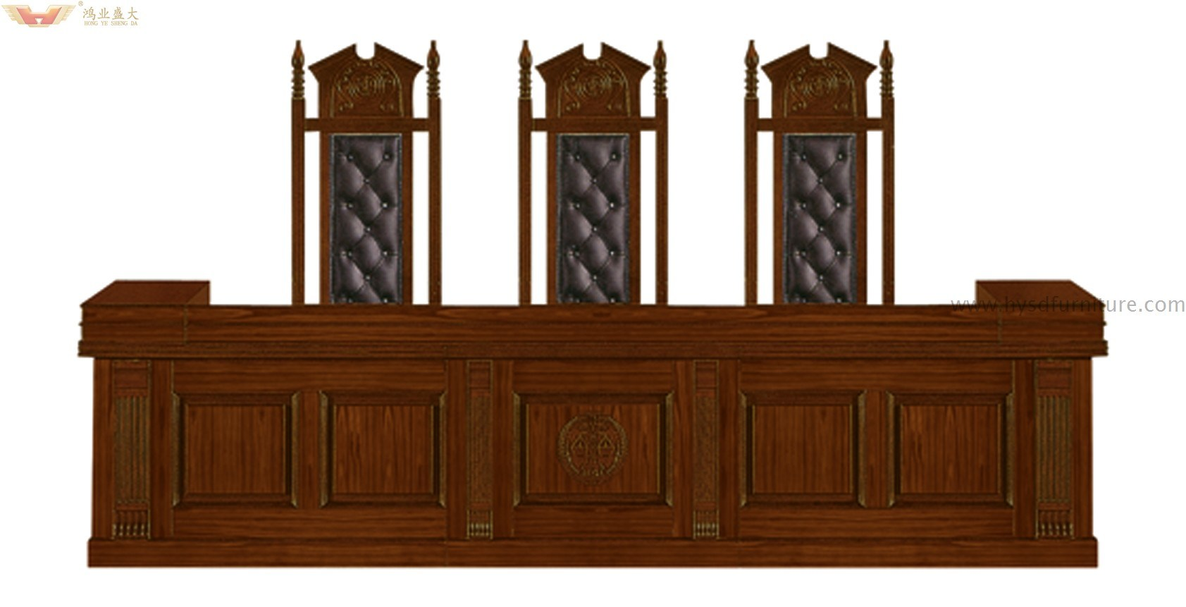 High Quality Court Judge Desk Table for Court