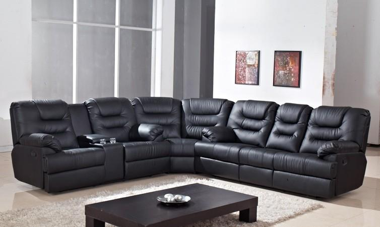 Furniture china furniture manufacturer modern sofa corner sofa - China Corner Sofa With Table And Cup Holder Recliner Sofa