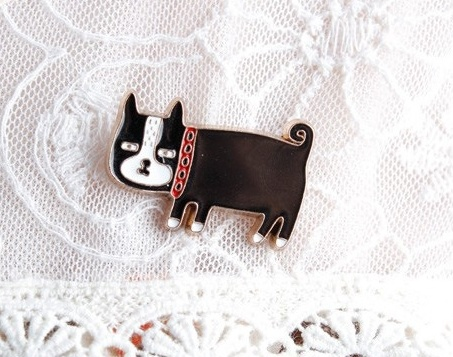 Cute Little Animal Brooch with Cat, Elephant and Pig Fashion Jewelry