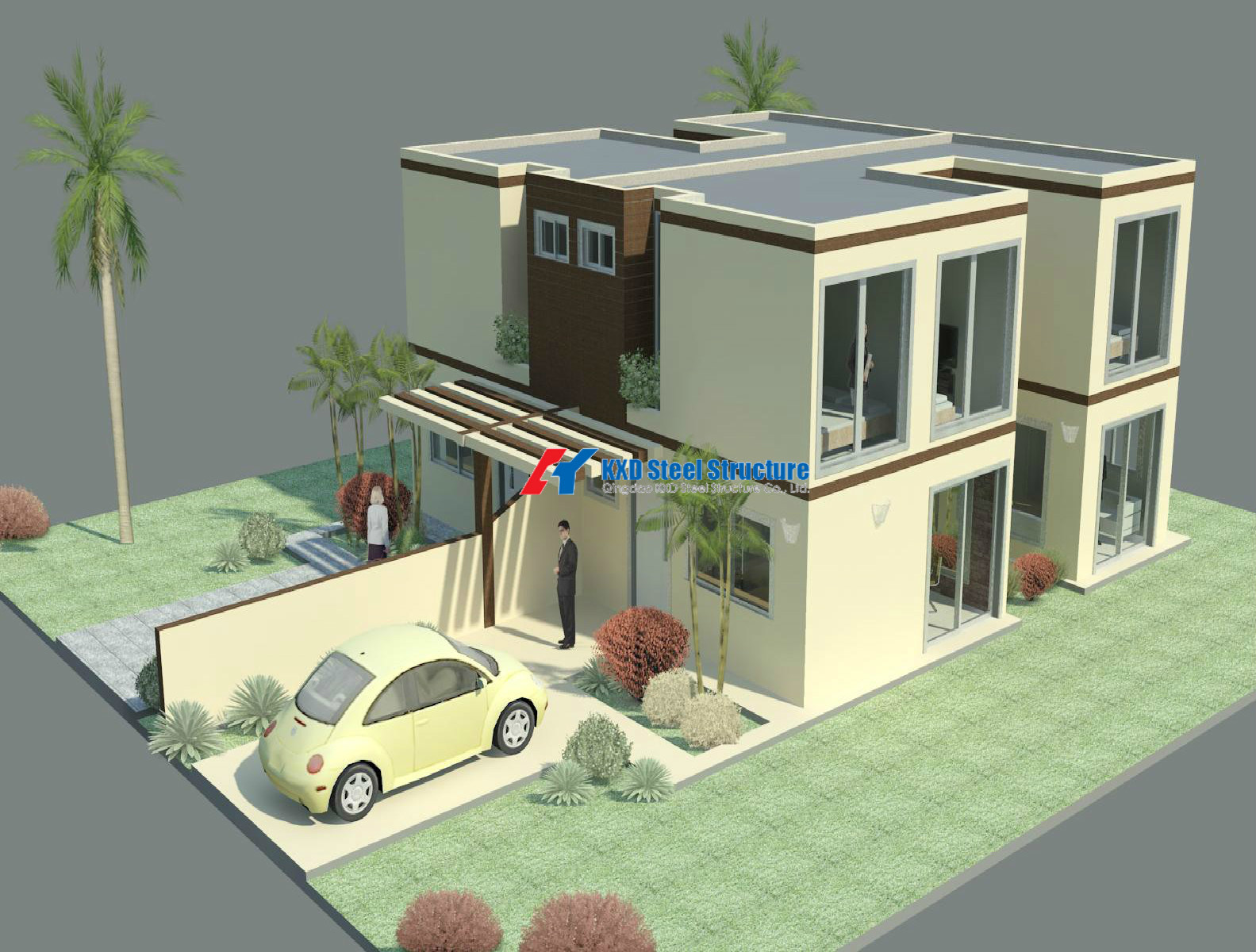 China Prefabricated Multi Storey Steel Frame Structure Residential House Building Construction