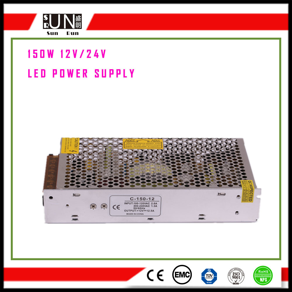150W DC12V LED Power Supply, Aluminum Material, Constant Voltage LED Power Supply, LED Driver, Switching Power Supply, Power Supply