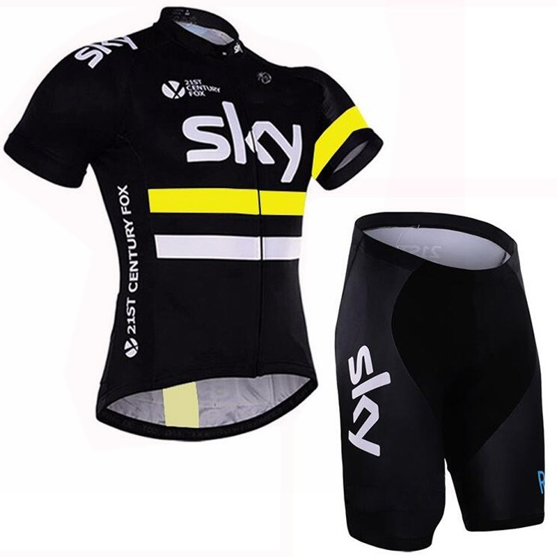 Breathable Team Cycling Jerseys and Cycling Shorts Bib Kit