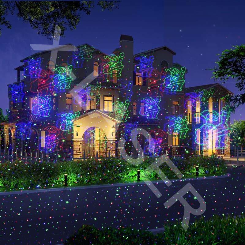 Laser Light Factory New RGB Full Color Motion Patterns Star Laser Light Shower Christmas Decor Holiday Garden Lighting