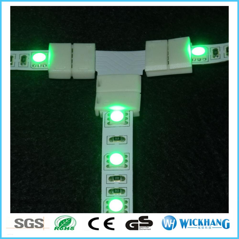 LED Strip Light 3528 Corner Connector No Solder L T + Shape Clip