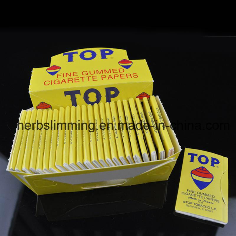 Top Fine Gummed Cigarette Smoking Rolling Papers 24 Booklets Paper