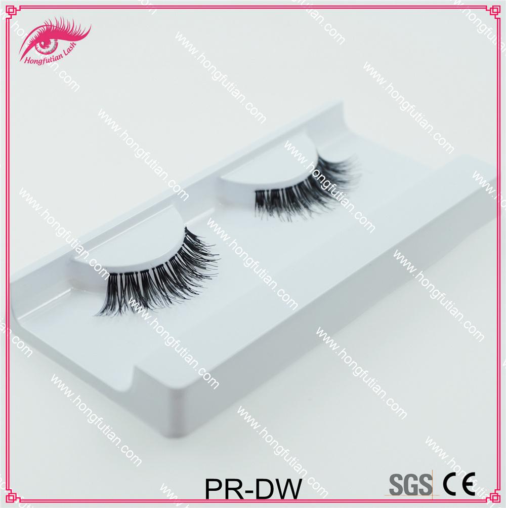 New Designed Wispy Style Human Hair Eyelash Dw False Eyelashes Wholesale