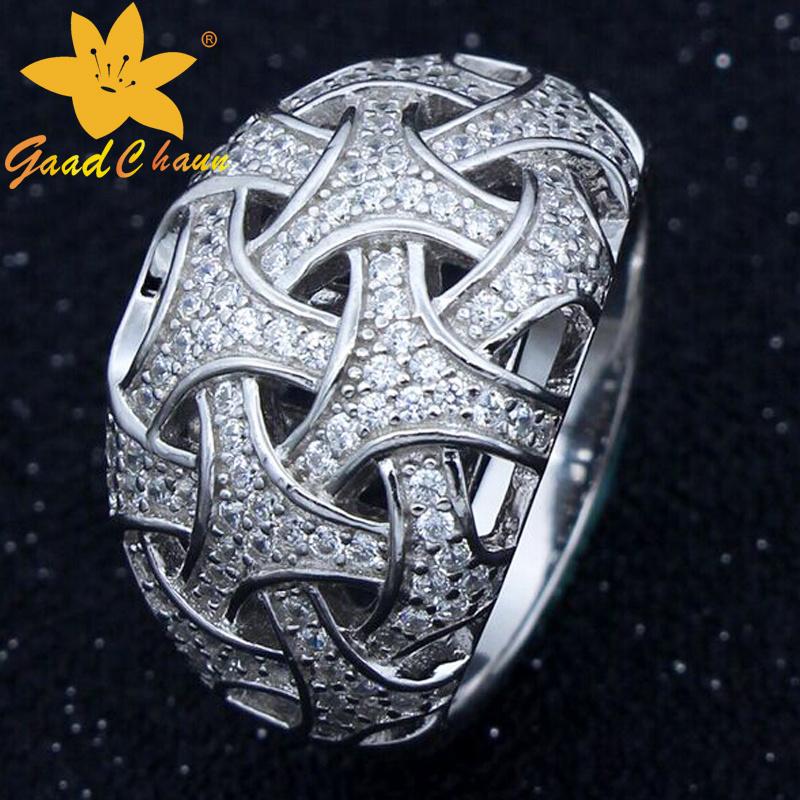 Stsr-16113010 Venus Inlay Zircon Flower Sterling Silver Bangle