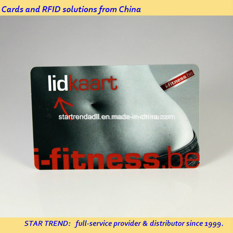 Gym Member Card Made of Plastic with Magnetic Stripe (ISO 7811)