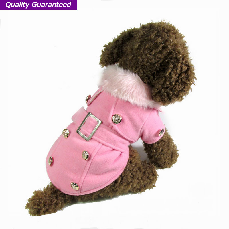 Pet Coat Dog Clothes with Fuzz Neck