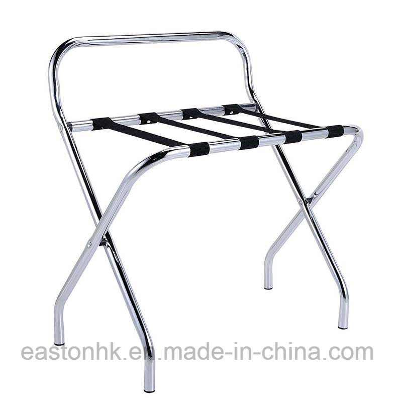 Easy Fold-up Hotel Strong Metal Luggage Rack with Backrest