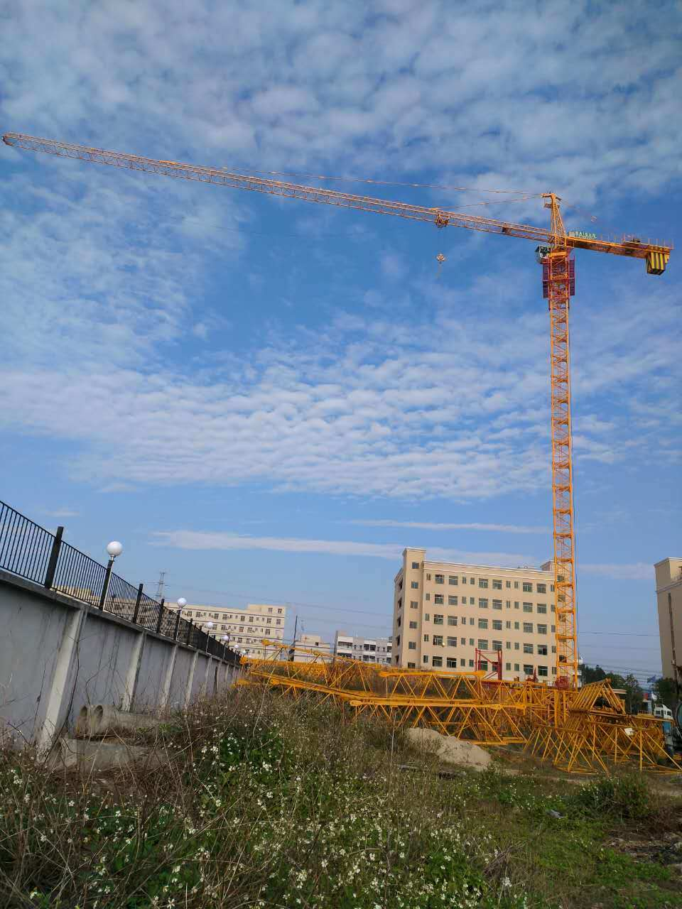 Qtz80 (TCT6013-8) Self-Erecting Construction Building Luffing Crane