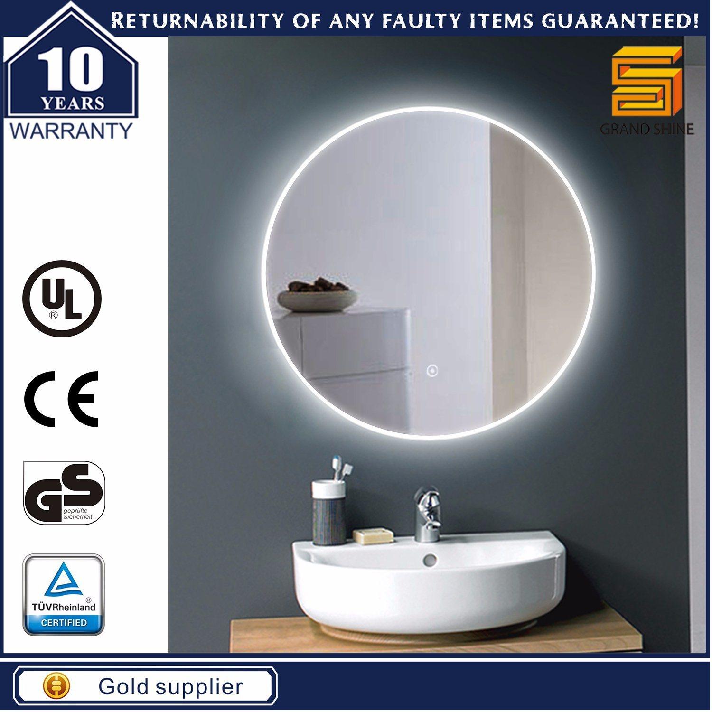 Round Aluminum Frame LED Strip Fancy Style Bathroom Mirrors