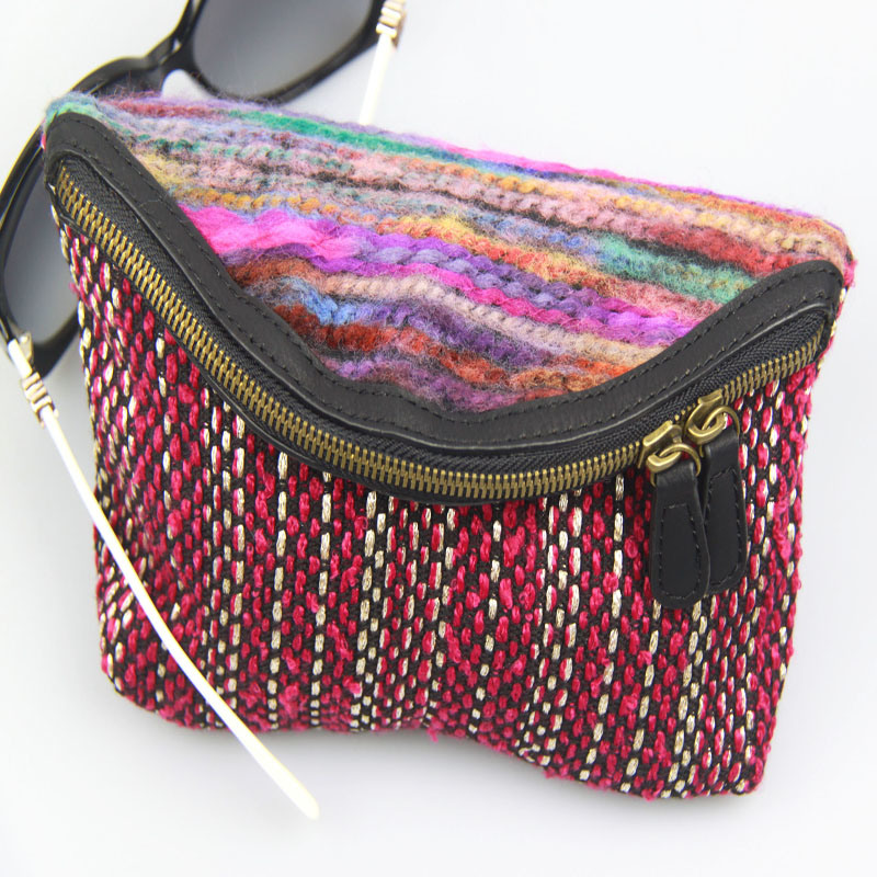 Women Boho Canvas Wallet Lady Cotton Purse Fashion Accessory