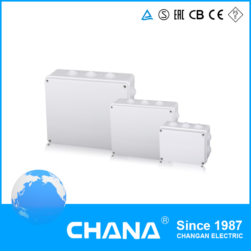 Electrical 4way Iron Box Household ABC PC Material Waterproof Junction Box