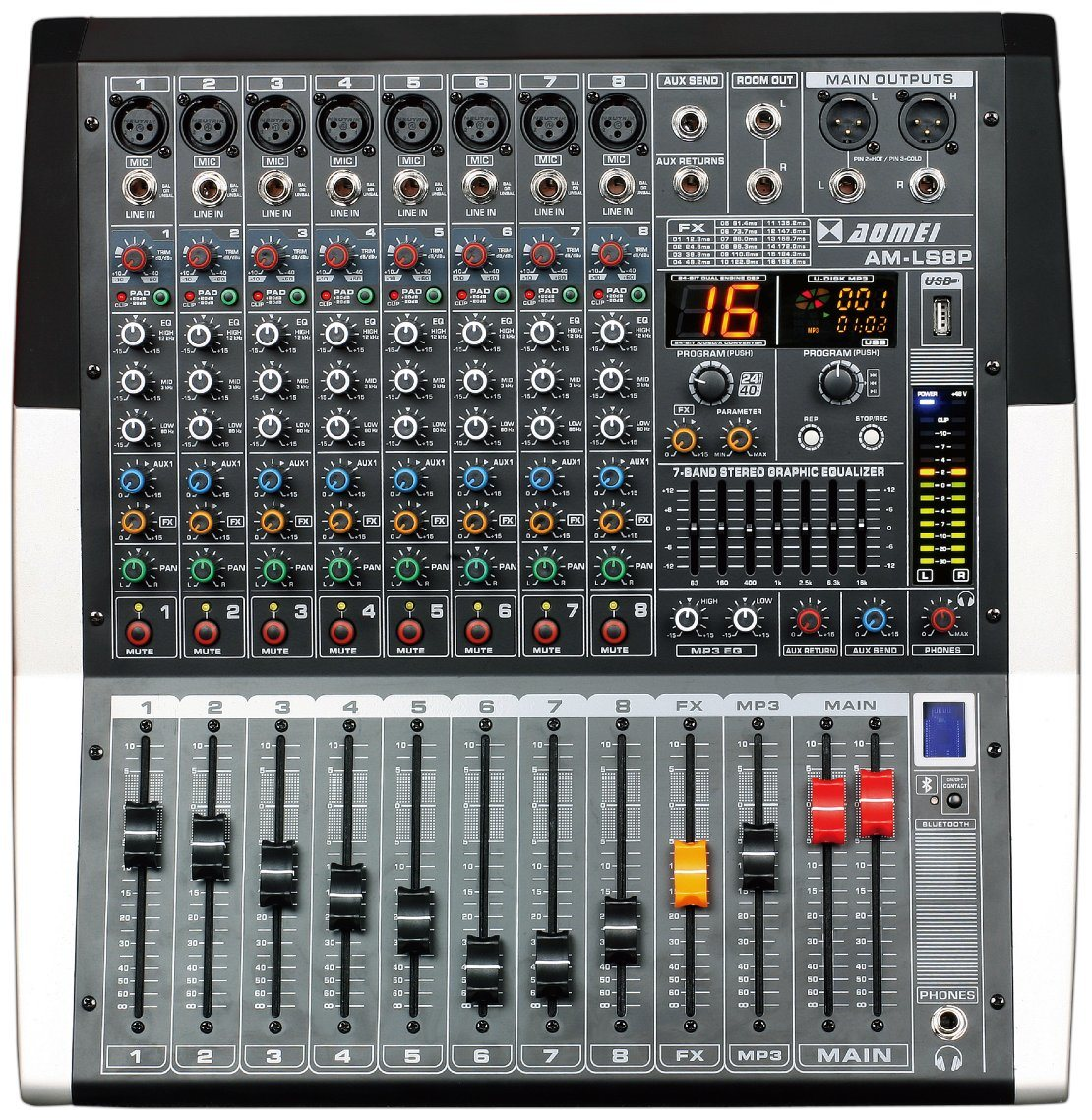 Special New Design Powered Mixer Ls8p Series Professional Amplifier