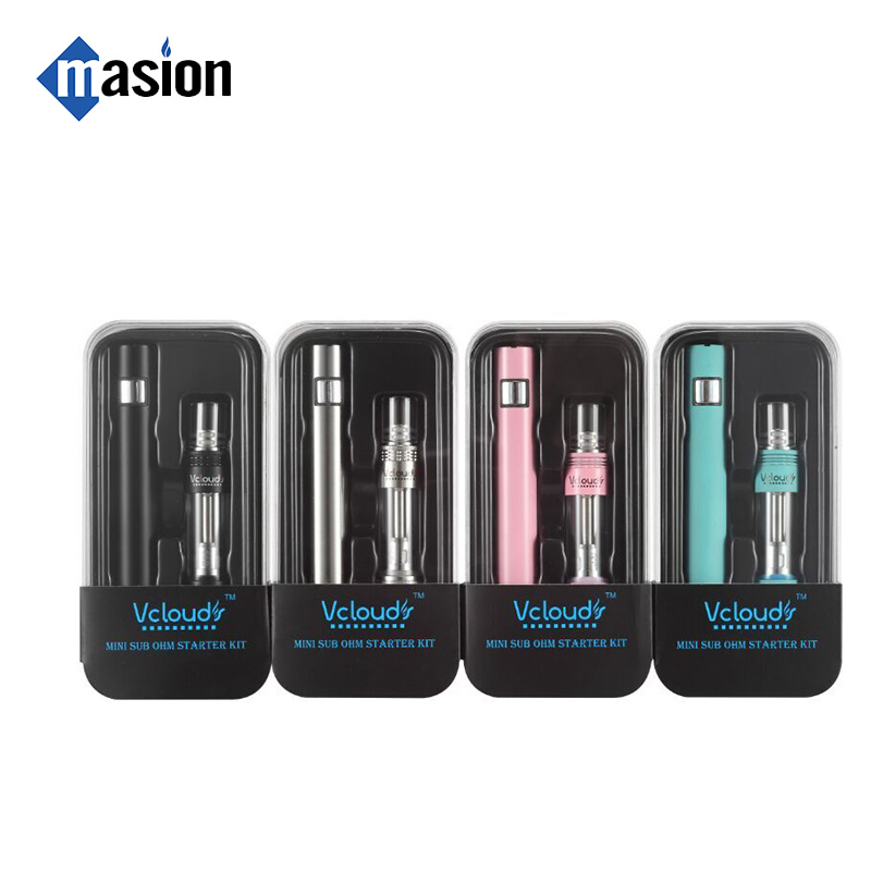 Slim 1100mAh 40W Glass Tank Vapor Stick Electronic Cigarette