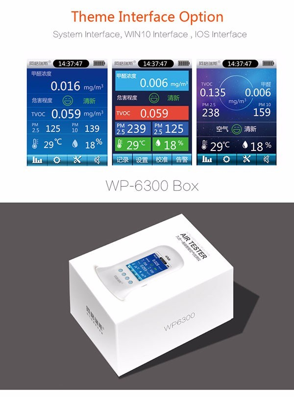 2017 New Multi Gas Detector Pm 2.5/10 Air Quality Monitor
