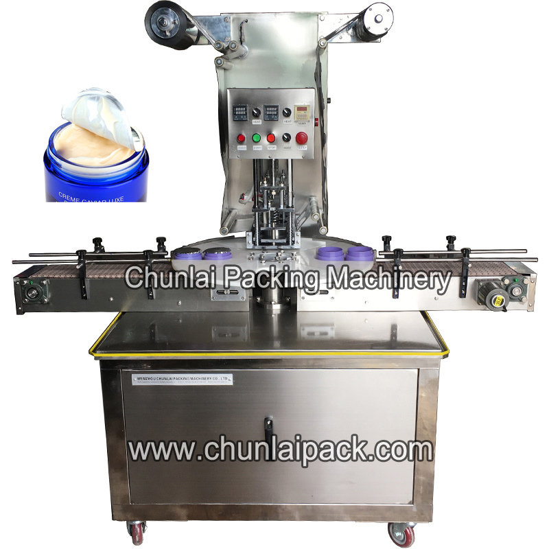 Body Lotion Plastic Jar Sealing Machine