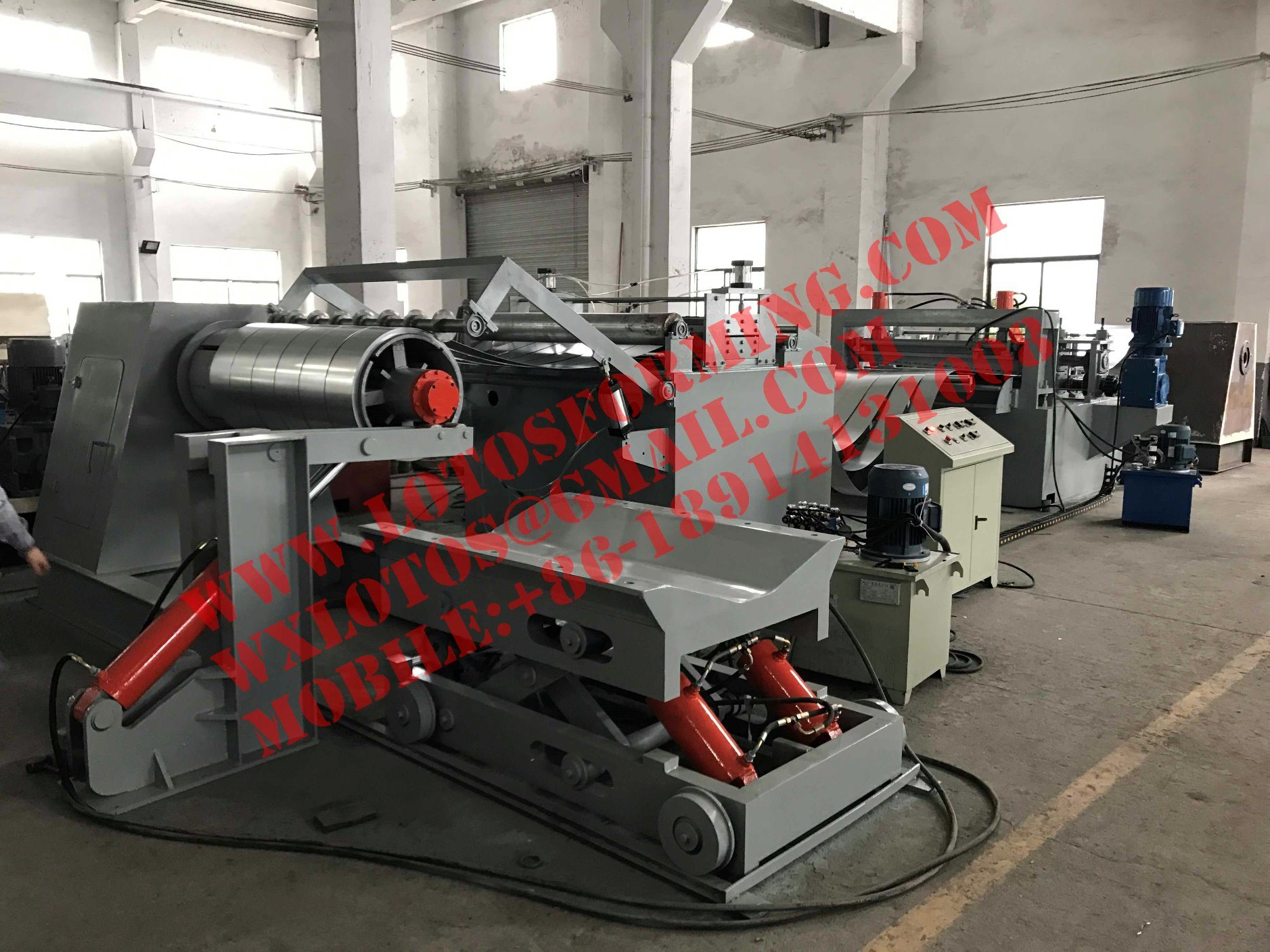 Automatic Steel Plate Slitting Line Machine with Ce Certification