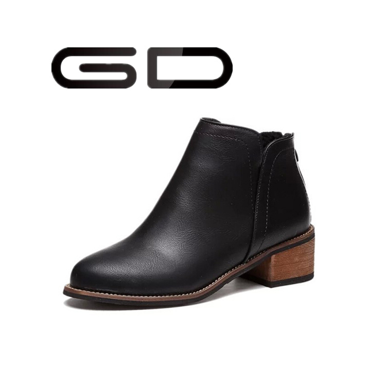 Custom Design Big Sizes Ladies Ankle Boots Fashion Women Shoes