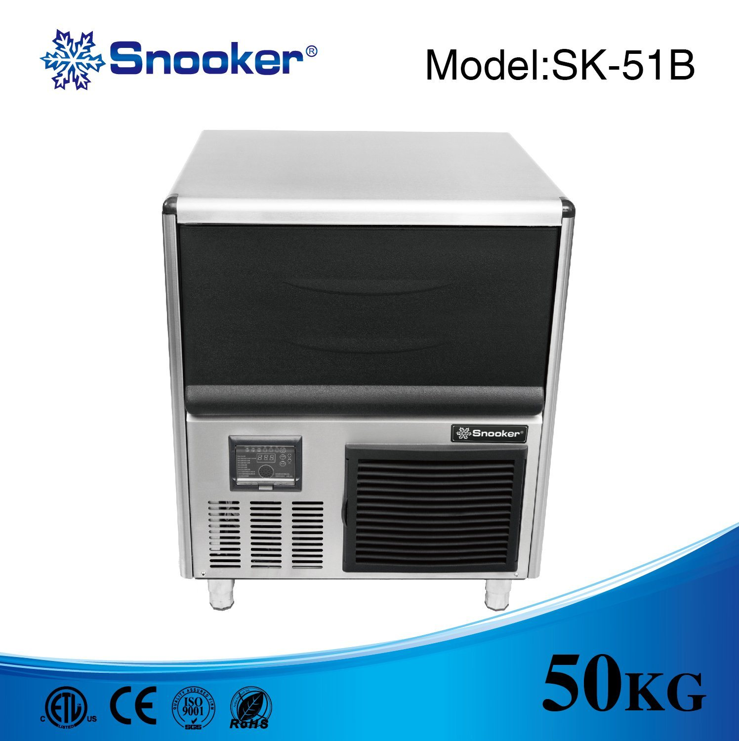 Under-Counter Type 50~100kg Ice Machine Ice Maker for Kitchen Bar