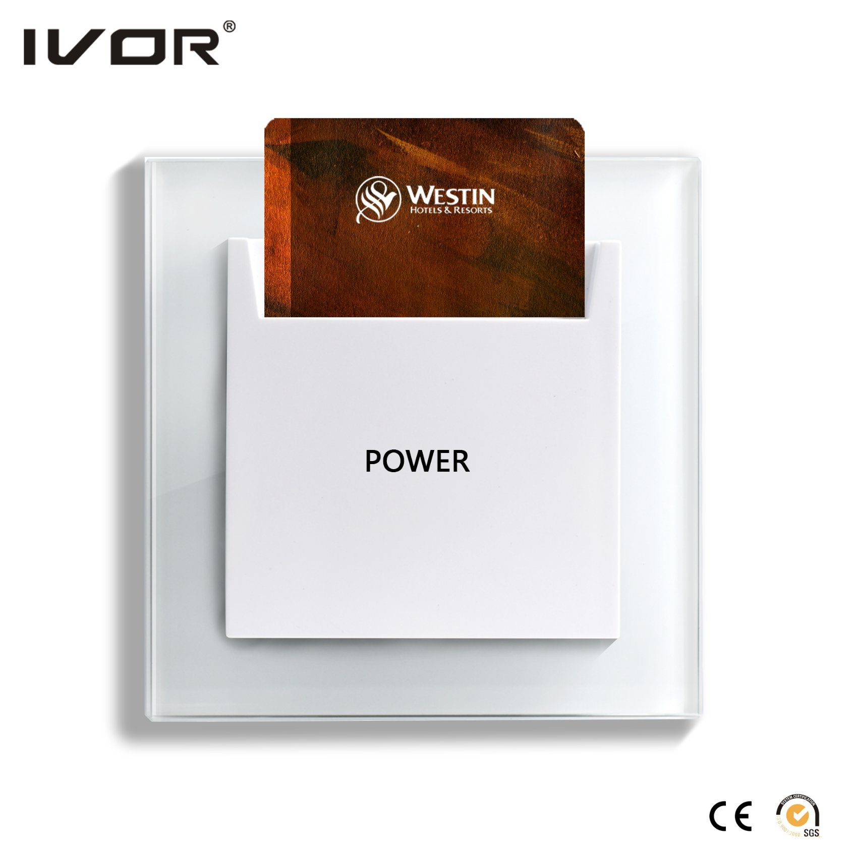 Energy Saver Key Card Power Switch for Magnetic Card Plastic Frame Us Standard (SK-ES2000MN-US)