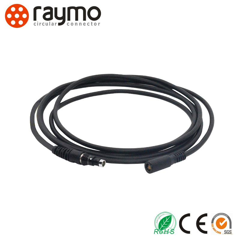 Black Chrome Colour Circular Outdoor Waterproof Cable Mounted Indutial Camera Connecto for Red One Device