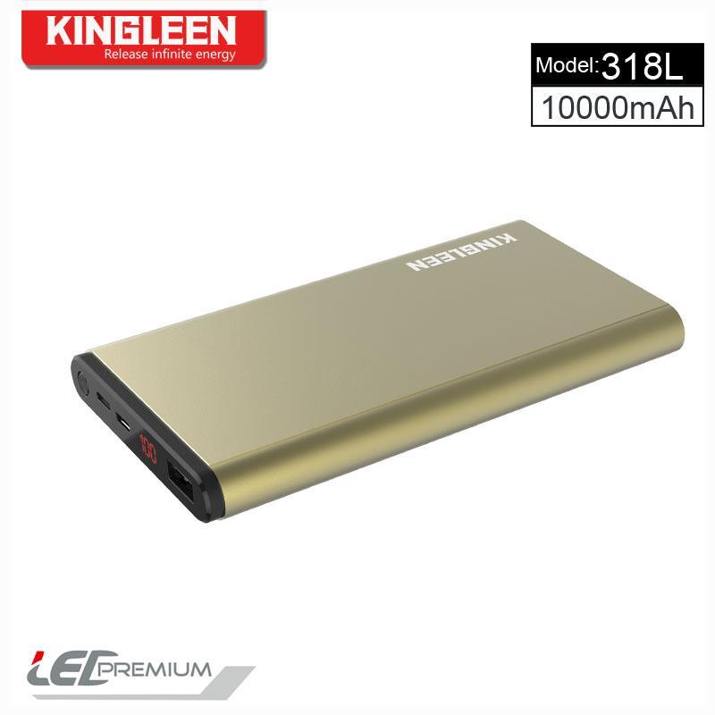 Kingleen USB Power Bank 10000mAh Standard Mirco Cable Kingleen Model 318L Made in China