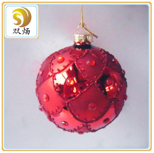 Hand Blown Clear Glass Christmas Ball Ornaments